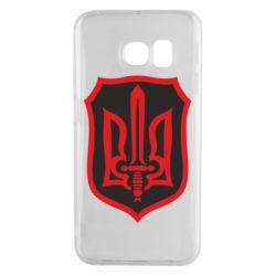 Чехол для Samsung S6 EDGE Shield with the emblem of Ukraine and the sword