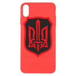 Чехол для iPhone Xs Max Shield with the emblem of Ukraine and the sword