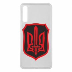 Чехол для Samsung A7 2018 Shield with the emblem of Ukraine and the sword