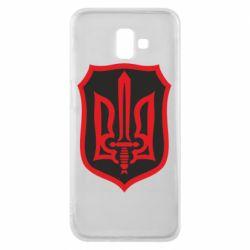 Чехол для Samsung J6 Plus 2018 Shield with the emblem of Ukraine and the sword