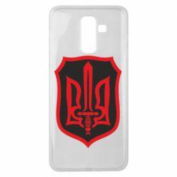 Чехол для Samsung J8 2018 Shield with the emblem of Ukraine and the sword
