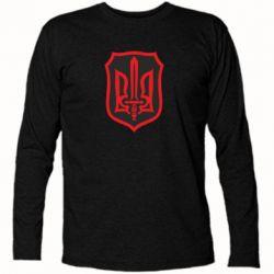 Футболка с длинным рукавом Shield with the emblem of Ukraine and the sword