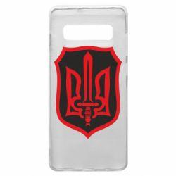 Чехол для Samsung S10+ Shield with the emblem of Ukraine and the sword