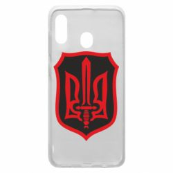 Чехол для Samsung A20 Shield with the emblem of Ukraine and the sword