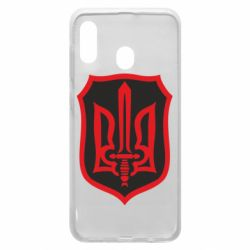 Чехол для Samsung A30 Shield with the emblem of Ukraine and the sword