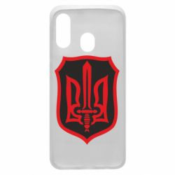 Чехол для Samsung A40 Shield with the emblem of Ukraine and the sword
