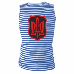 Майка-тельняшка Shield with the emblem of Ukraine and the sword
