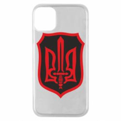 Чехол для iPhone 11 Pro Shield with the emblem of Ukraine and the sword