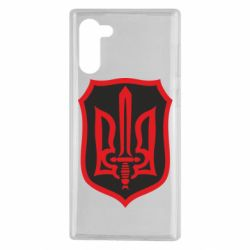 Чехол для Samsung Note 10 Shield with the emblem of Ukraine and the sword