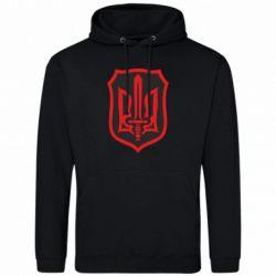 Мужская толстовка Shield with the emblem of Ukraine and the sword