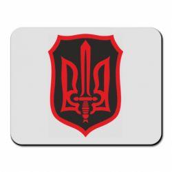 Коврик для мыши Shield with the emblem of Ukraine and the sword