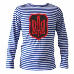 Тельняшка с длинным рукавом Shield with the emblem of Ukraine and the sword