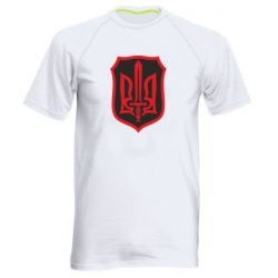 Мужская спортивная футболка Shield with the emblem of Ukraine and the sword