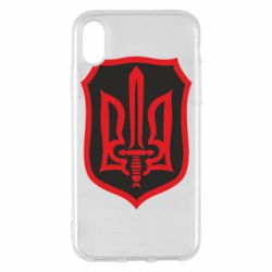 Чехол для iPhone X/Xs Shield with the emblem of Ukraine and the sword