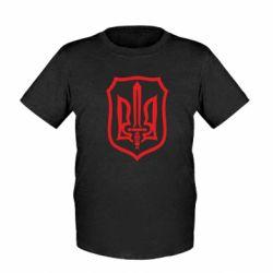 Детская футболка Shield with the emblem of Ukraine and the sword