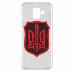 Чехол для Samsung A6 2018 Shield with the emblem of Ukraine and the sword