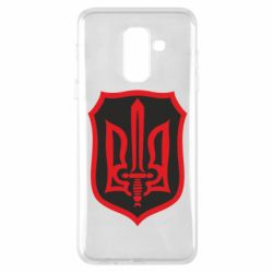 Чехол для Samsung A6+ 2018 Shield with the emblem of Ukraine and the sword