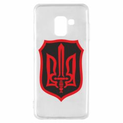 Чехол для Samsung A8 2018 Shield with the emblem of Ukraine and the sword