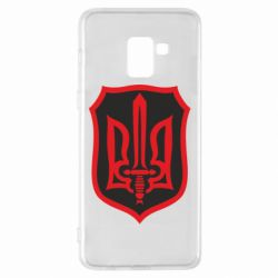 Чехол для Samsung A8+ 2018 Shield with the emblem of Ukraine and the sword