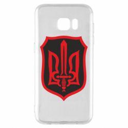 Чехол для Samsung S7 EDGE Shield with the emblem of Ukraine and the sword
