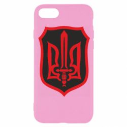 Чехол для iPhone 8 Shield with the emblem of Ukraine and the sword