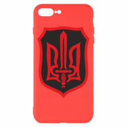 Чехол для iPhone 8 Plus Shield with the emblem of Ukraine and the sword