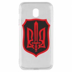 Чехол для Samsung J3 2017 Shield with the emblem of Ukraine and the sword