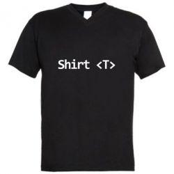 Мужская футболка  с V-образным вырезом Shirt T