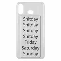 Чехол для Samsung A6s Shitday friday saturday sunday