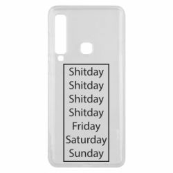 Чехол для Samsung A9 2018 Shitday friday saturday sunday