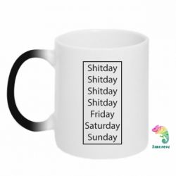 Кружка-хамелеон Shitday friday saturday sunday