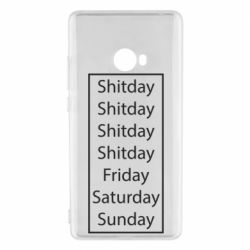 Чехол для Xiaomi Mi Note 2 Shitday friday saturday sunday