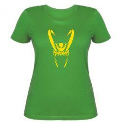 Женская футболка Шлем Локи - FatLine