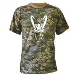 Камуфляжная футболка Шлем Локи - FatLine