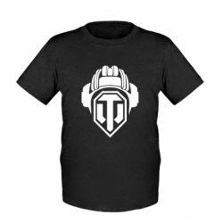 Детская футболка Шлем WOT - FatLine
