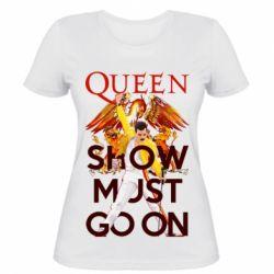 Жіноча футболка Show must go on