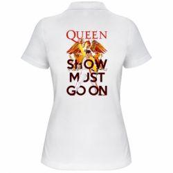 Жіноча футболка поло Show must go on