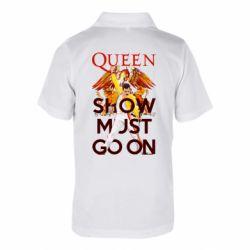 Дитяча футболка поло Show must go on