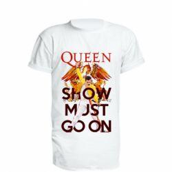 Подовжена футболка Show must go on