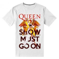 Чоловіча стрейчева футболка Show must go on