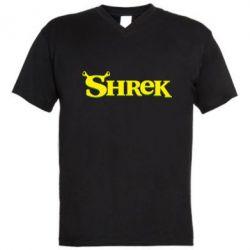 Мужская футболка  с V-образным вырезом Shrek - FatLine
