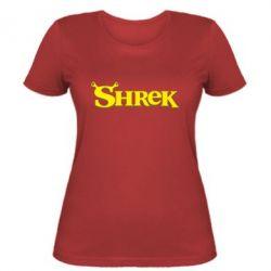 Женская футболка Shrek - FatLine