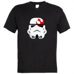 Мужская футболка  с V-образным вырезом Штурмовик - FatLine