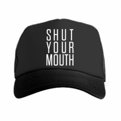 Кепка-тракер Shut your mouth