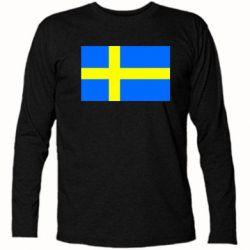 Футболка с длинным рукавом Швеция - FatLine