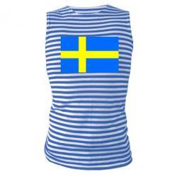 Майка-тельняшка Швеция - FatLine