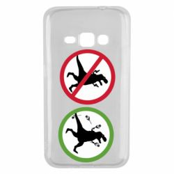 Чохол для Samsung J1 2016 Sign with a dinosaur with a gun and flowers