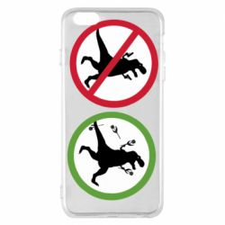 Чохол для iPhone 6 Plus/6S Plus Sign with a dinosaur with a gun and flowers