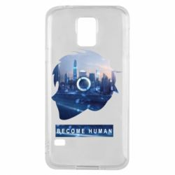 Чохол для Samsung S5 Silhouette City Detroit: Become Human