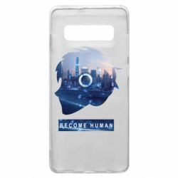 Чохол для Samsung S10+ Silhouette City Detroit: Become Human